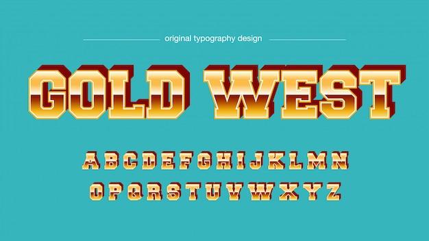 Яркая золотая хроматическая типография