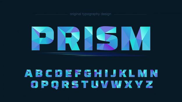 抽象的な青い低ポリタイポグラフィデザイン