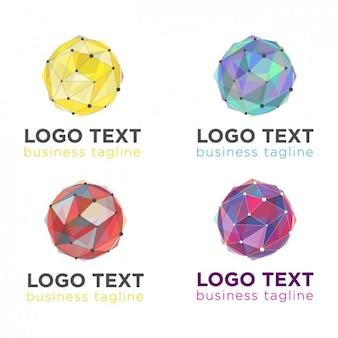 Геометрическая мяч логотипы пакет