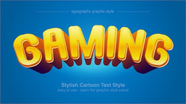 Мультяшный ярко-желтый пузырь типография графический стиль