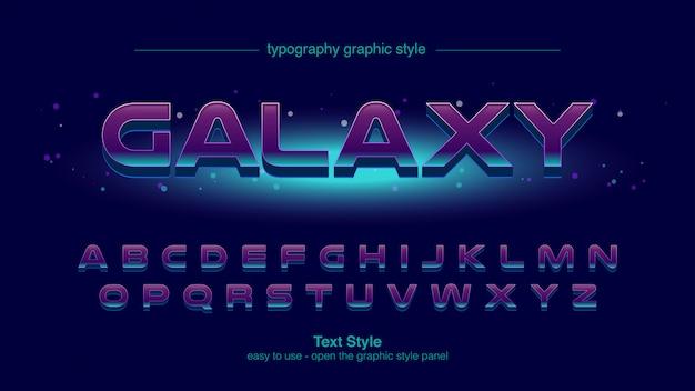抽象的な未来的な宇宙タイポグラフィデザイン