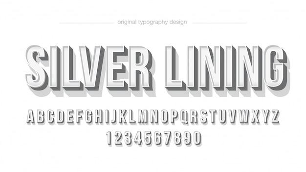 Минималистский серебряный белый жирный типография