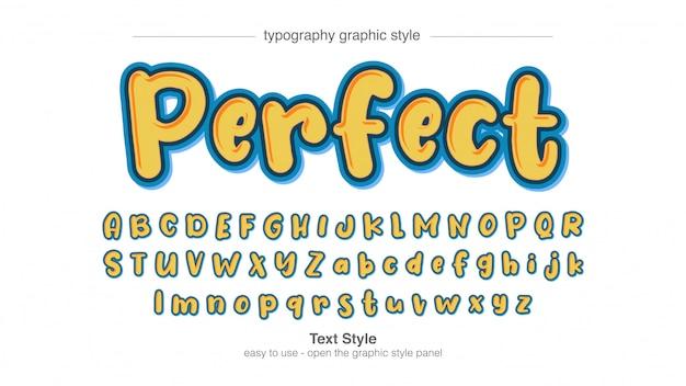 Пузырь нерегулярный мультфильм типография стиль