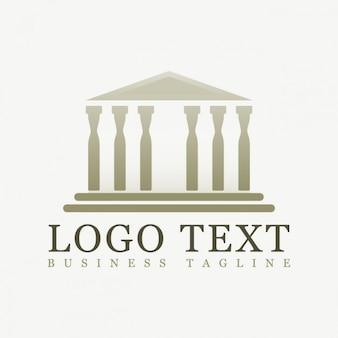 多角形のパルテノン神殿のロゴ