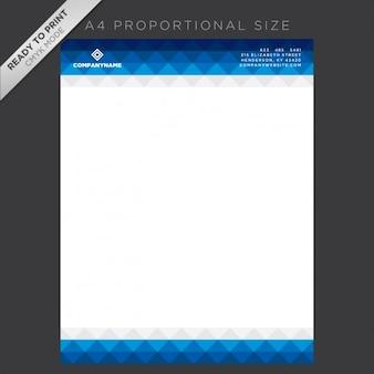 Синий дизайн фирменных бланков