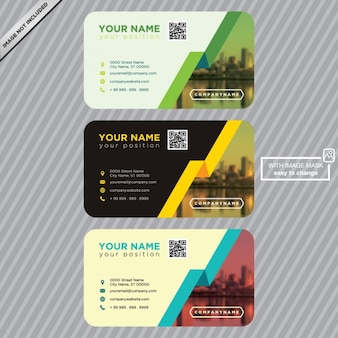 Шаблон для визитных карточек