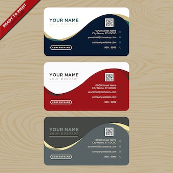 Дизайн визитной карточки красного, синего и серого
