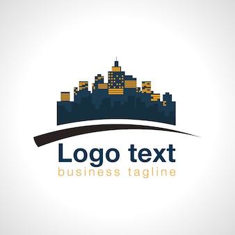 ビジネスのためのリアル州の建築ロゴ
