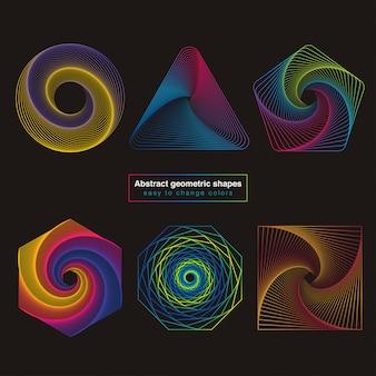 抽象的なカラフルな幾何学的図形