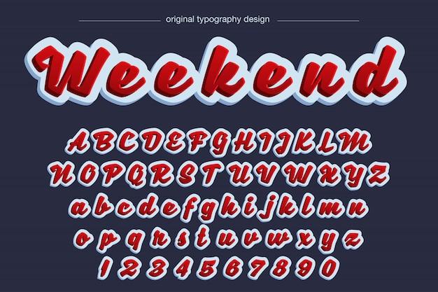Особо смелый рукописный красный типографский дизайн