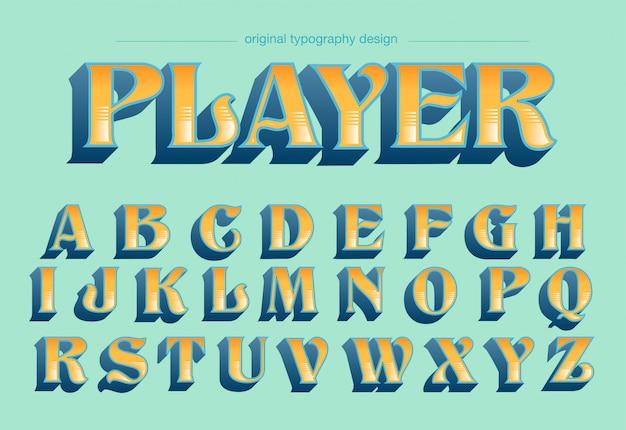 Классический ретро дизайн типографики
