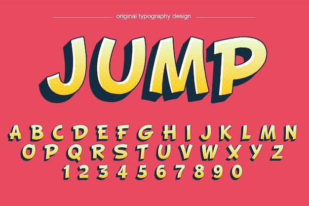 Мультяшный стиль типография дизайн