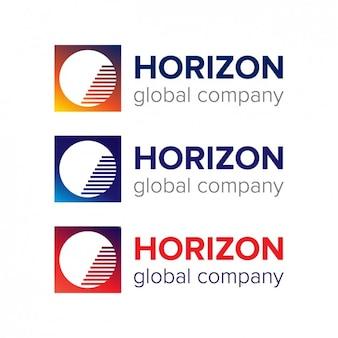 Аннотация круг внутри квадрата логотипом