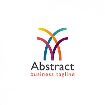 Абстрактные цвета волны логотип