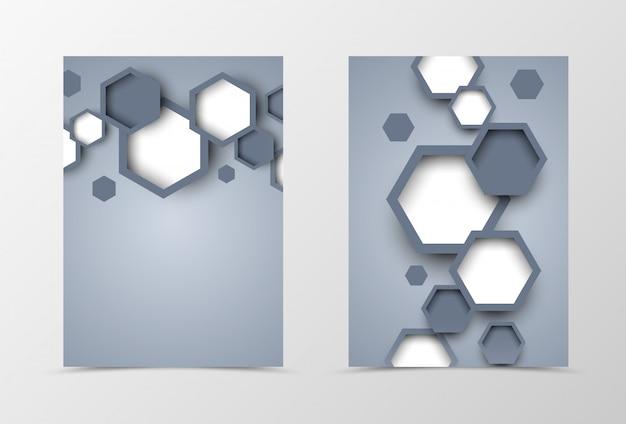 フロントとバックのダイナミックチラシテンプレートデザイン