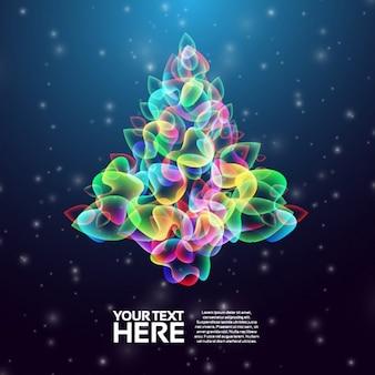 抽象的なカラフルなクリスマスツリーの背景
