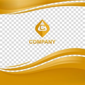 Волнистый фон с брошюрой компании