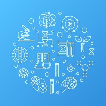 Биотехнология или биоинженерия круглый контур