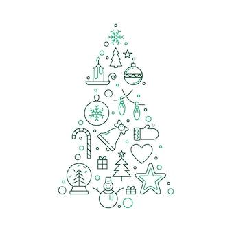 クリスマスツリーの図