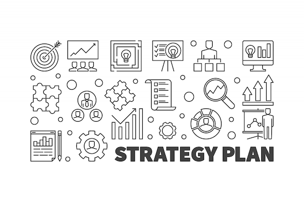 Стратегический план векторные иллюстрации или баннер