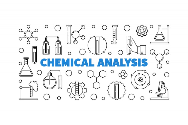 Химический анализ наброски значки