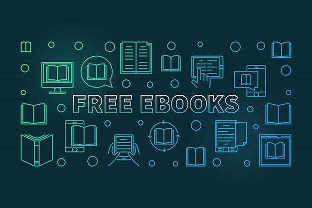 無料の電子ブックカラフルなライン