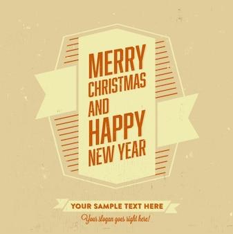 メリークリスマスと幸せな新年テンプレート