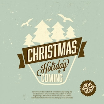 クリスマス休暇ポスター