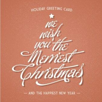 クリスマス休暇のグリーティングカード
