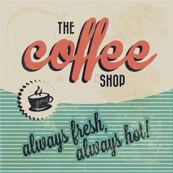 グランジスタイルでコーヒーの壁紙