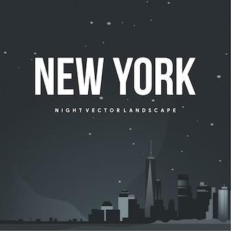 Нью-йорк ночной вектор