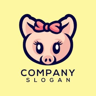 豚のロゴのベクトル