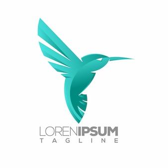 鳥のロゴやロゴタイプのテンプレート