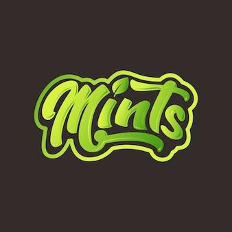 ミントのロゴのレタリング