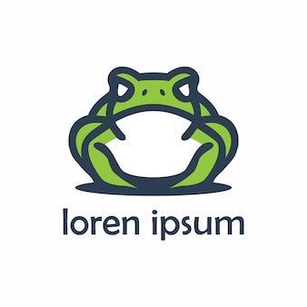Футуристический логотип лягушки животных