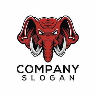 象のロゴのベクトル