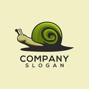 カタツムリのロゴのベクトル