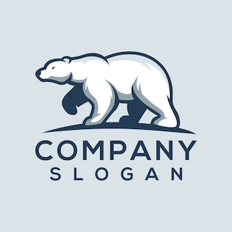 クマのロゴのベクトル