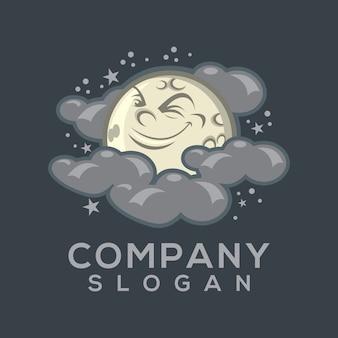 月のロゴのベクトル
