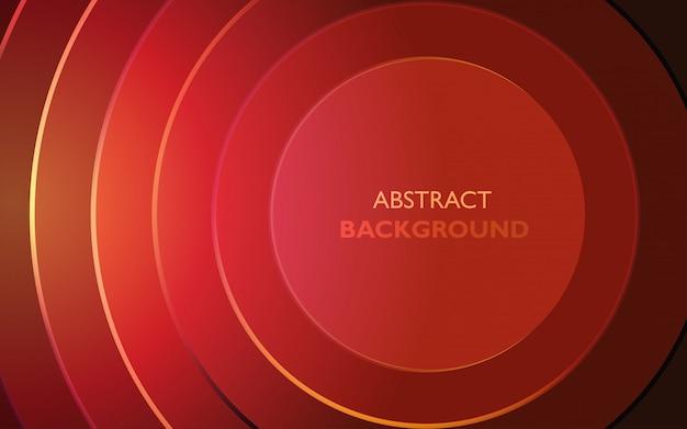 輝くエッジを持つ抽象赤丸ベクトルの背景