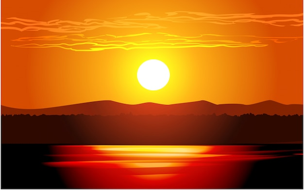 Красивое закатное свечение