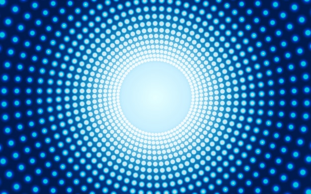 青い背景のセンターライト