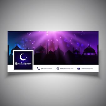 Рамадан карим дизайн заголовка в социальных сетях