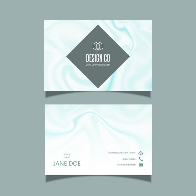 Визитная карточка с элегантной мраморной текстурой