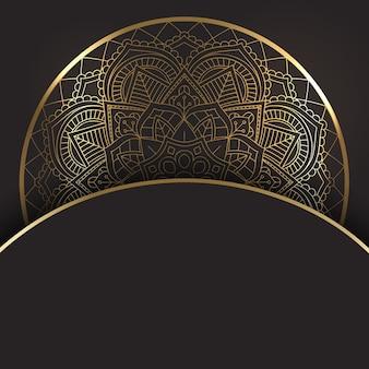 装飾的なゴールドとブラックのマンダラデザイン