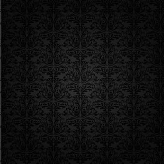 黒のダマスク織の背景