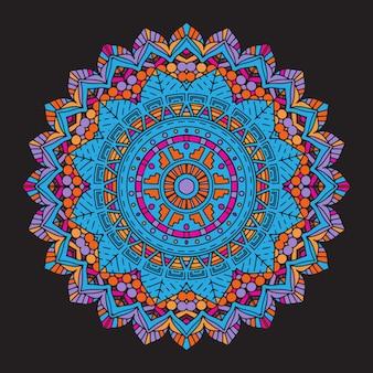 抽象的なカラフルなマンダラの背景