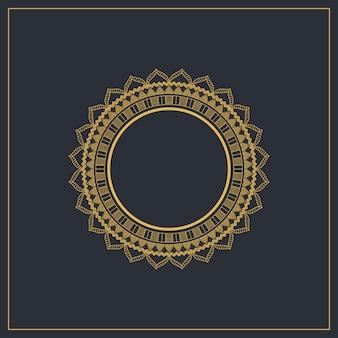 円形のエレガントなフレームと装飾的な背景