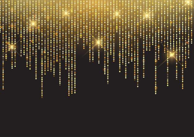 Блестящий золотой блеск фона