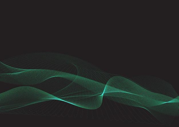 抽象的な粒子ドットの背景